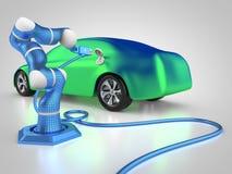 ładować elektryczny pojazd ilustracji