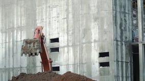 Ładowacza backhoe, ekskawator kopie okop klamerka Praca wykopywać maszynę na budynek budowie ekskawator Fotografia Royalty Free