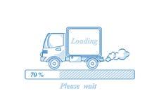Ładownicza ciężarówka Obrazy Stock