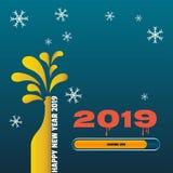 Ładowniczy Szczęśliwy nowy rok 2019 ilustracji
