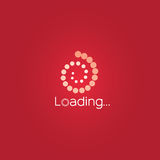 Ładowniczy wektor Lekki czerwonego koloru wektorowy projekt i czerwieni tło Zdjęcie Stock