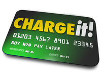 Ładuje Mnie Plastikowy Kredytowej karty zakupy ukopu pieniądze wynagrodzenie Opóźniony Zdjęcie Royalty Free