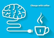 Ładuje twój umysł z kawowym pojęciem Ilustracji