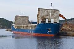 Ładunek łódź Fotografia Stock