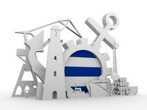 Ładunek portowe względne ikony ustawiać Zdjęcie Royalty Free