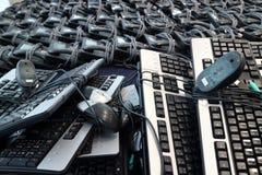 Ładunki klawiatura telefony i myszy zdjęcie royalty free
