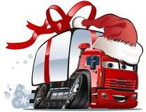 ładunku bożych narodzeń doręczeniowej ciężarówki wektor Obrazy Royalty Free