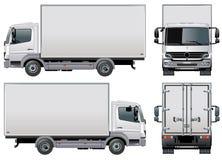 ładunku doręczeniowej ciężarówki wektor Zdjęcia Royalty Free