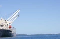 ładunku frachtowy jetty statek fotografia royalty free