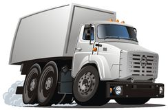 ładunku kreskówki doręczeniowej ciężarówki wektor ilustracja wektor