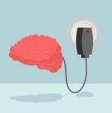Ładunku mózg Ładowarka dla cerebrum szpik kostny ładuje z nowym i ilustracji
