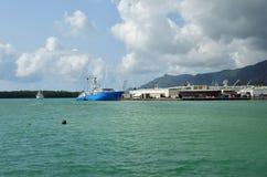 Ładunku port Mahe wyspa, Seychelles zdjęcia royalty free