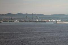 Ładunku port na dennym wybrzeżu Tarragona, Hiszpania Zdjęcie Royalty Free
