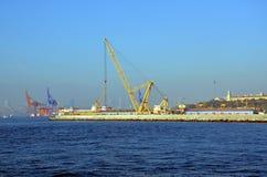 Ładunku port w Istanbuł Zdjęcia Stock