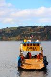 Ładunku statek w Castro Chile fotografia stock