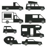 Ładunku transport drogą ilustracja wektor