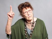 Łajał starej kobiety obrazy royalty free