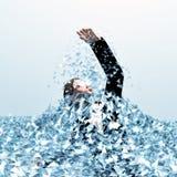 Łamać przez szklanego sufitu Fotografia Stock