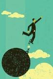 Łamać swobodnie od łańcuchu i balowego ilustracja wektor