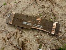 łamający amunici zaniechany pudełko Zdjęcie Royalty Free