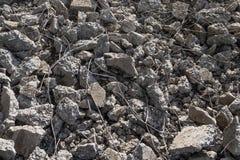 Łamający zniweczony beton Zdjęcie Stock