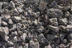Łamający zniweczony beton Obrazy Royalty Free
