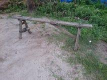 Łamana ławka przegapiająca Zdjęcie Royalty Free