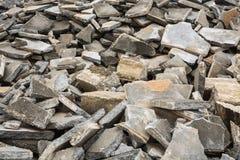 Łamana betonowa podłoga Zdjęcia Royalty Free