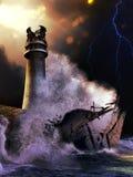Łamana latarnia morska ilustracja wektor