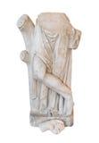 Łamana marmurowa rzeźba mężczyzna odizolowywający na białym tle Obrazy Royalty Free