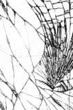 Łamana szklana tekstura, pękająca w szkle zdjęcia stock