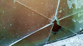 Łamana szklanego okno naprawy potrzeba fotografia stock