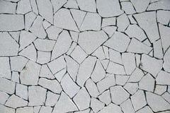 Łamana tekstura biel ściana Obraz Stock