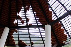Łamane dachowe płytki obrazy stock