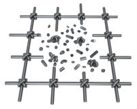Łamanie metalu bary Odizolowywający ilustracja wektor
