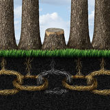 Łamany łańcuch Zdjęcie Stock