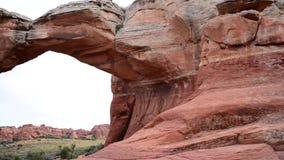 Łamany łuk w łuku parku narodowym Moab Utah Obrazy Stock