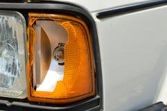 Łamany światło na samochodzie Obraz Royalty Free