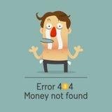 Łamany biznesmen żadny pieniądze pokazuje jego pustą kieszeń Zdjęcie Stock