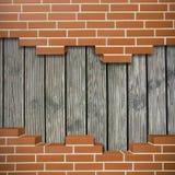 Łamany brickwall tło Zdjęcie Royalty Free