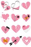 12 łamany hearth z issolated tłem ilustracja wektor