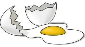 łamany jajko royalty ilustracja