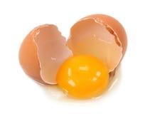 łamany jajko Obraz Royalty Free
