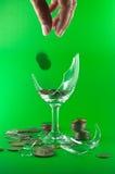 łamany menniczy szkło Obraz Royalty Free