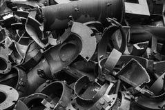 Łamany metalu grata hutnictw fabrik w Arbed Luxemburg zdjęcie royalty free