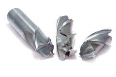 Łamany metalu młynu narzędzie Obrazy Royalty Free