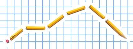łamany ołówek obraz stock
