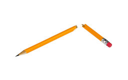 Łamany ołówek Zdjęcie Stock