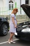 łamany samochód Obraz Royalty Free