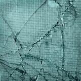 Łamany szkło, tło krakingowy okno z wir Zdjęcie Royalty Free